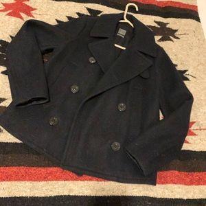 GAP wool blend pea coat small